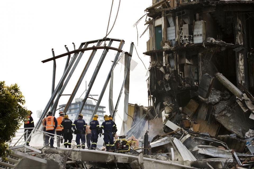 Building damage caused by the Christchurch earthquake. Photo: Jo Johnston