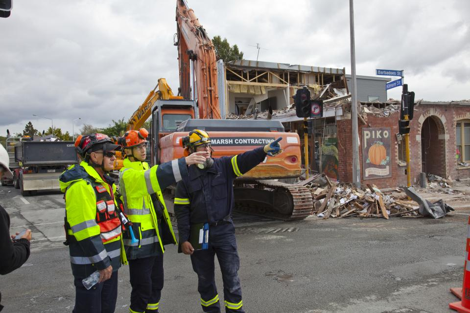 Building damage from the 2011 Christchurch earthquake. Photo credit: John McCombe.