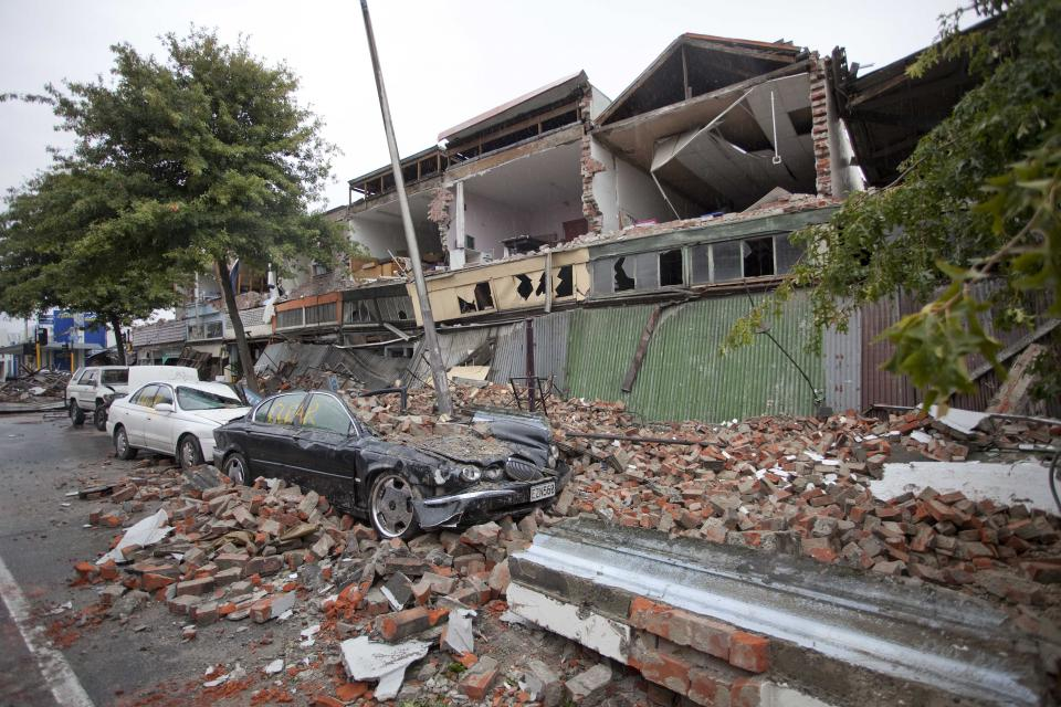 Buildings destroyed in earthquake. Photo: John McCombe, Fire and Emergency New Zealand