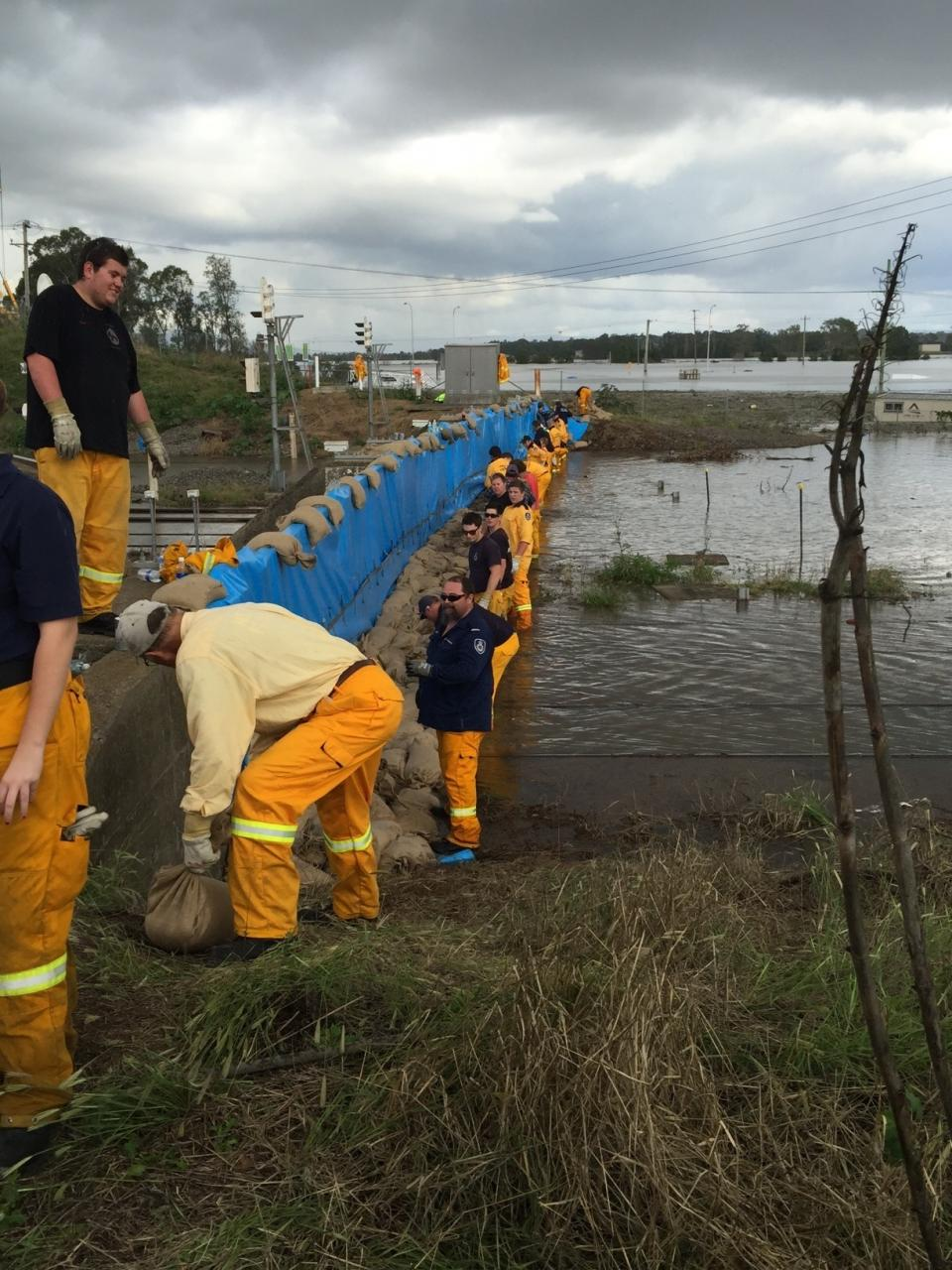 Maitland sandbags. Photo: NSW RFS