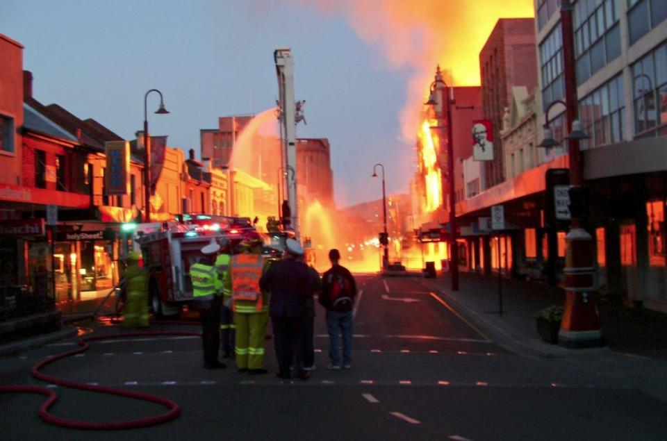 Myer fire in Tasmania. Photo: Richard Bugg.