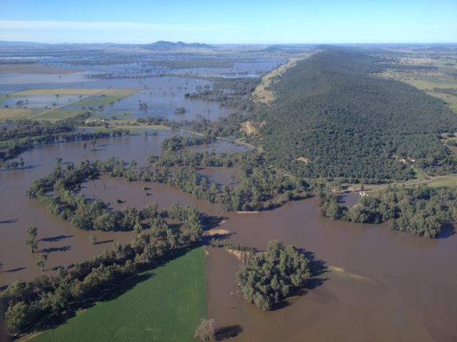 Areial view of flooding in NSW. Photo: Alex Chesser.