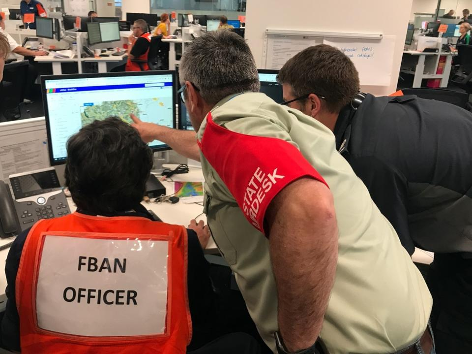 FBANs and users interact in the Victorian State Control Centre, January 2020. Photo: Timothy Neale