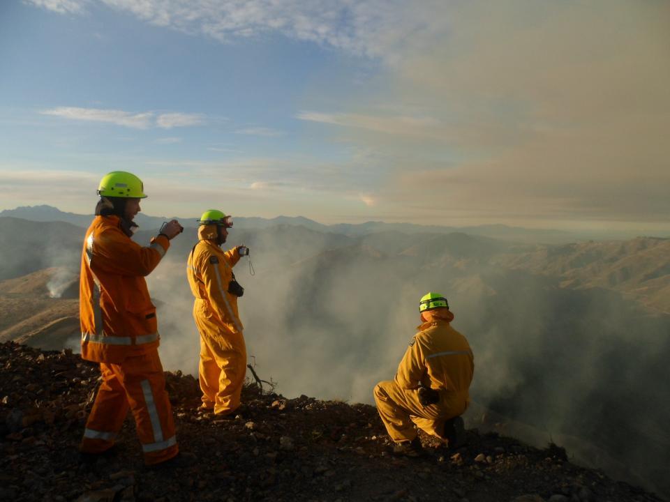 Prescribed burn near Marlborough NZ. Photo NZFS.