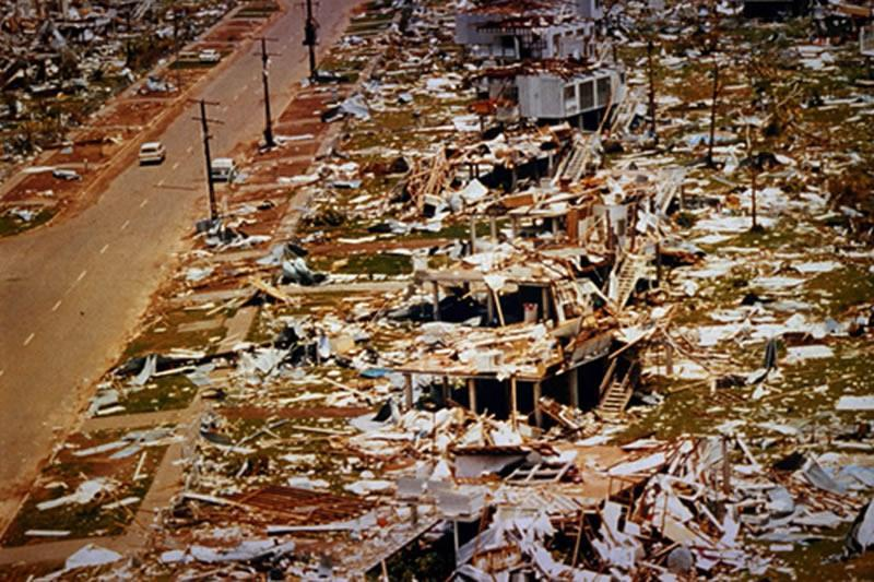 Aftermath of Cyclone Tracey. Source: Risk Frontiers