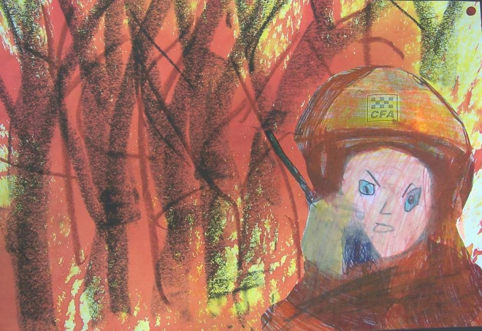 Children's artwork courtesy of 'Fire and Drought: Through the eyes of a child', Anglicare Victoria, Hume region.