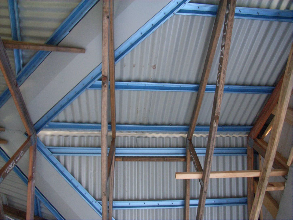 Roof structure of a house under construction. Photo: David Henderson
