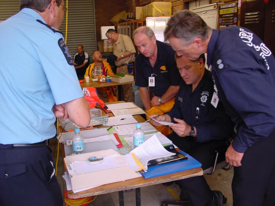Emergency service employees. Photo credit: South Australian Metropolitan Fire Service.
