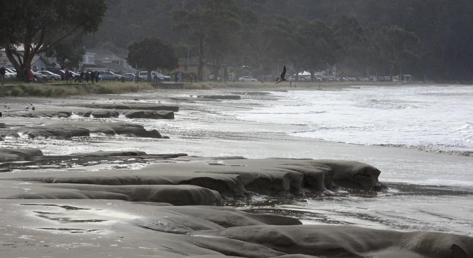 Temporary erosion at Kingston Beach, Tasmania. Photo: Tim Ramm