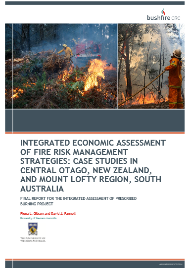 © BUSHFIRE CRC LTD 20 14 INTEGRATED ECONOMIC ASSESSMENT OF FIRE RISK MANAGEMENT STRATEGIES: CASE STUDIES IN CENTRAL OTAGO, NEW ZEALAND, AND MOUNT LOFTY REGION, SOUTH AUSTRALIA