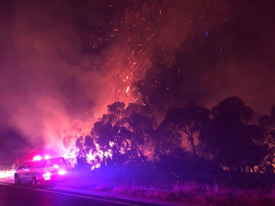 Grantville fires. Photo: Toomuc Fire Brigade.