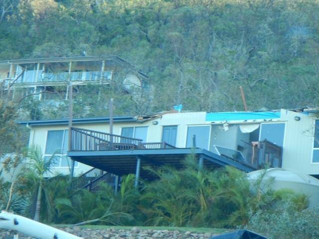 Damage to a house at Airlie Beach following Cyclone Debbie. Photo: Cyclone Testing Station