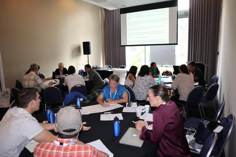 Workshop participants at the OCEANIA Ecosystem Services forum, Brisbane