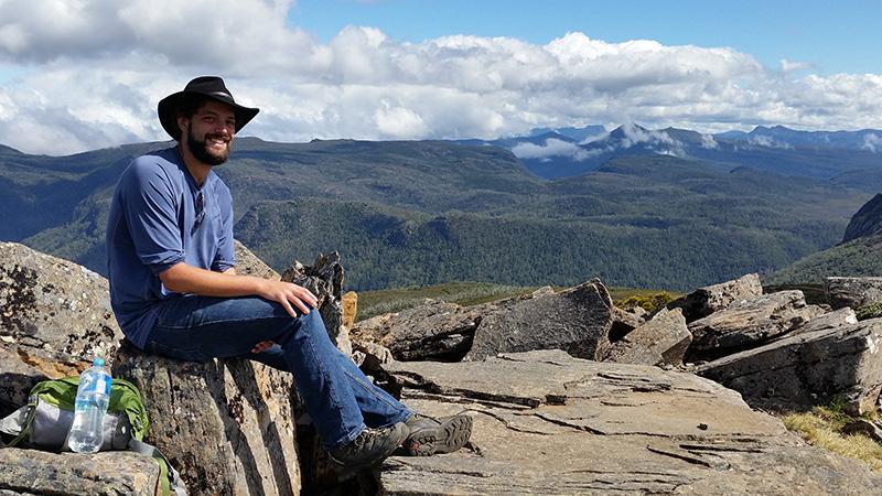 James Furlaud - postgrad field studies in the Tasmanian forests