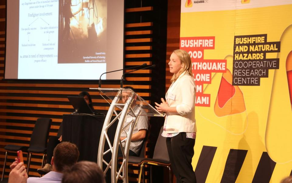Dr Kamarah Pooley's research was on the Youth Misuse of Fire program.
