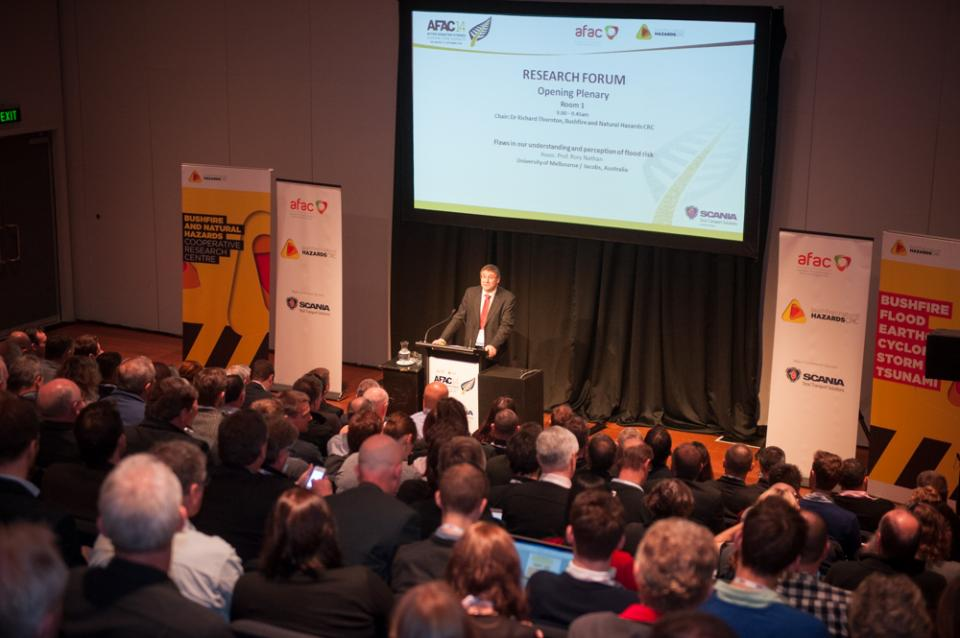 Richard Thornton opens the 2014 Research Forum