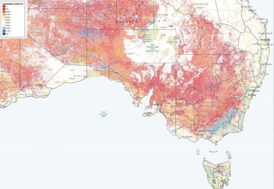 The Australian Flammability Monitoring System, which will enhance bushfire preparedness across Australia.
