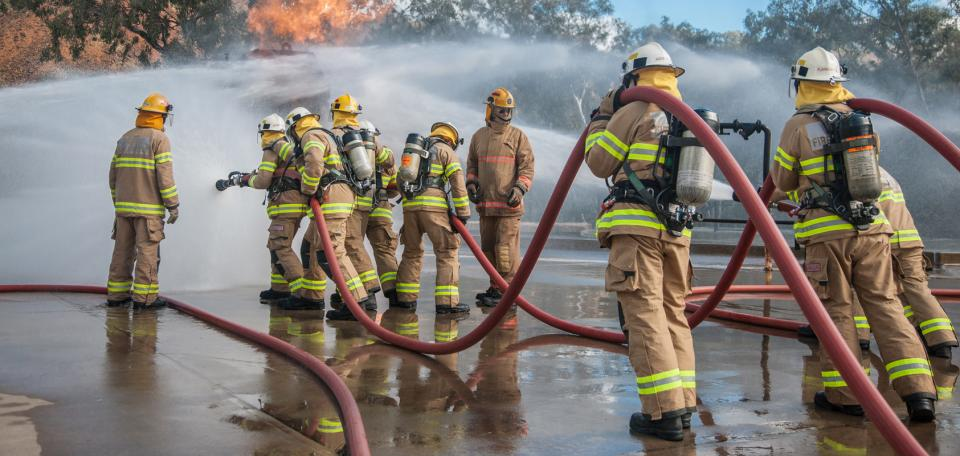 MFS firefighters in action. Photo: MFS