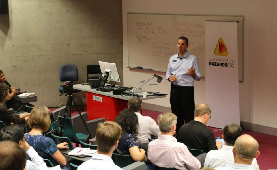 Deputy Commissioner, QFES Mike Wassing opens the Research Advisory Forum.