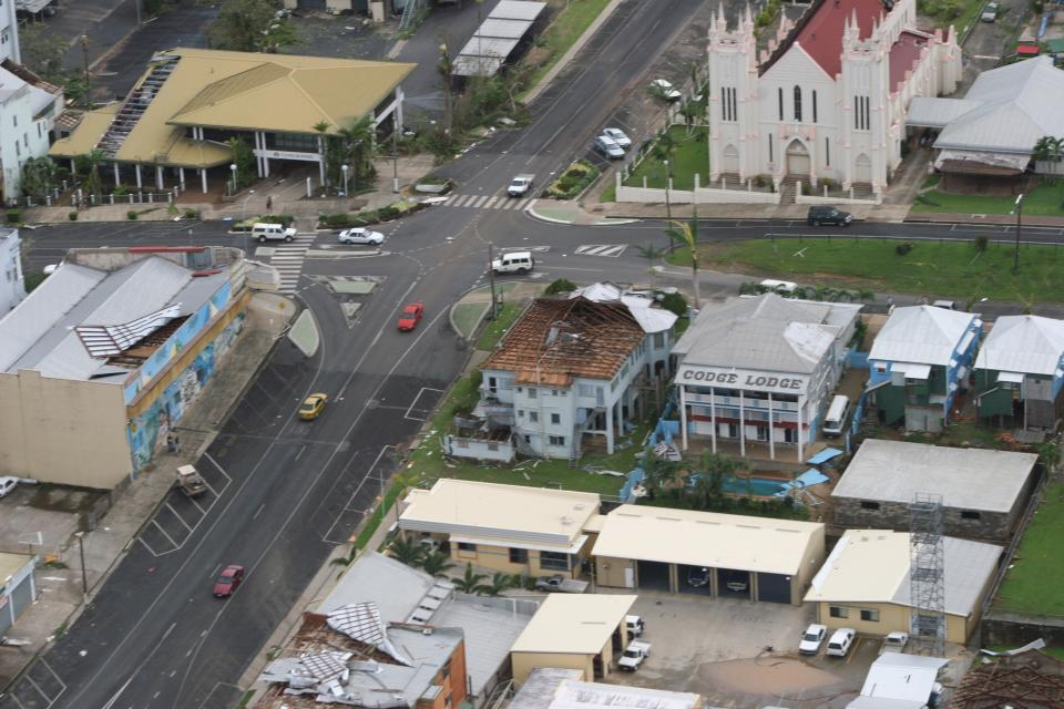 Many buildings built before the mid-1980s are vulnerable to severe wind, with Cyclone Larry wreaking havoc on Innisfail in Queensland in 2006.