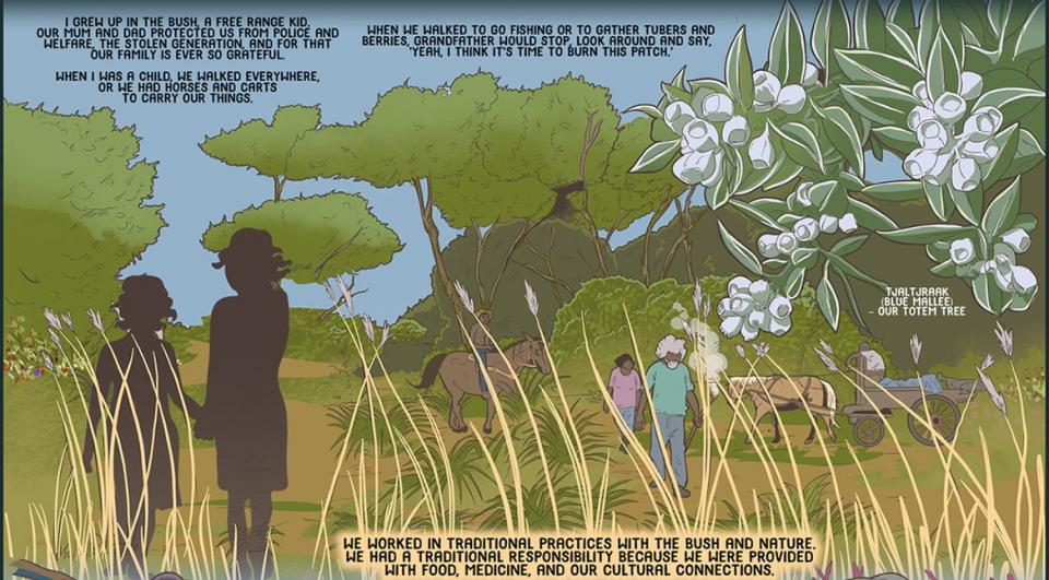 Aunty Carol's story adapted to fit space. See booklet and poster for full version.