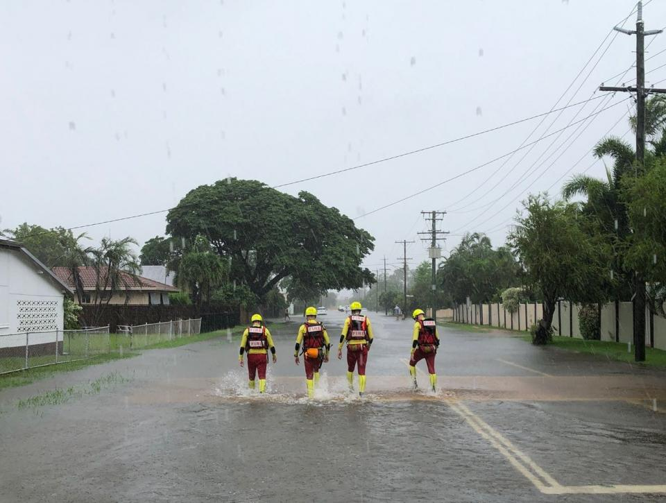 QFES Emergency Officers during the 2019 Townsville Floods. Photo: QFES