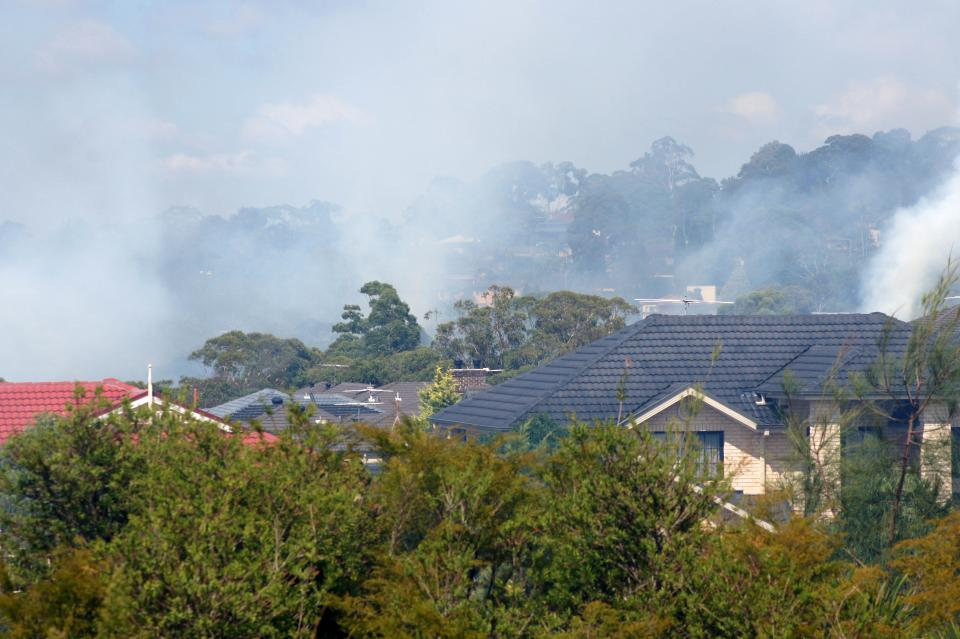 Belrose house fire. Photo: Anthony Clark NSW RFS