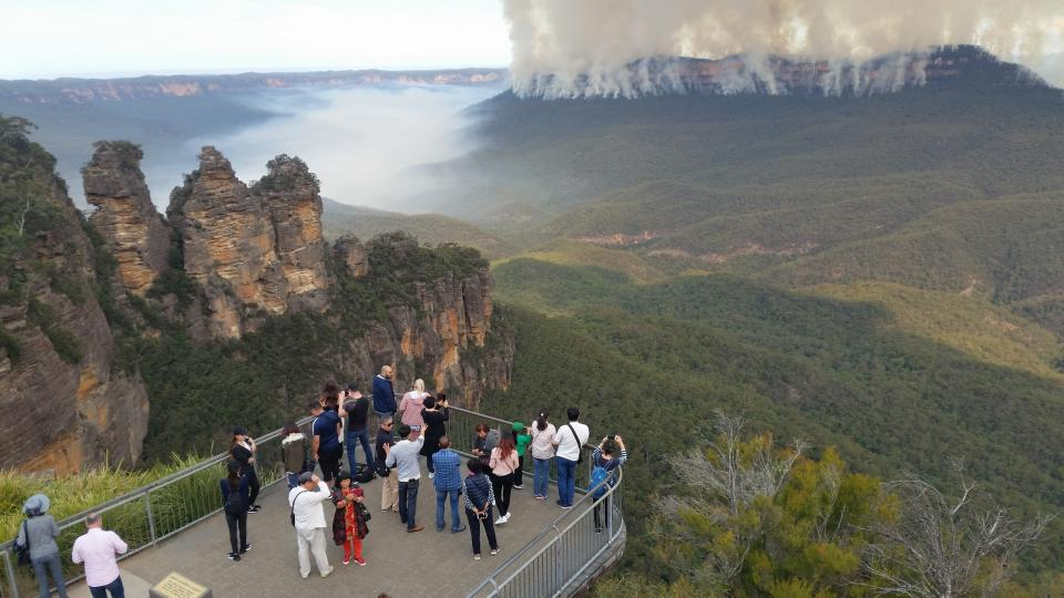 Hazard reduction burn in the Blue Mountains. Photo: NSW NPWS