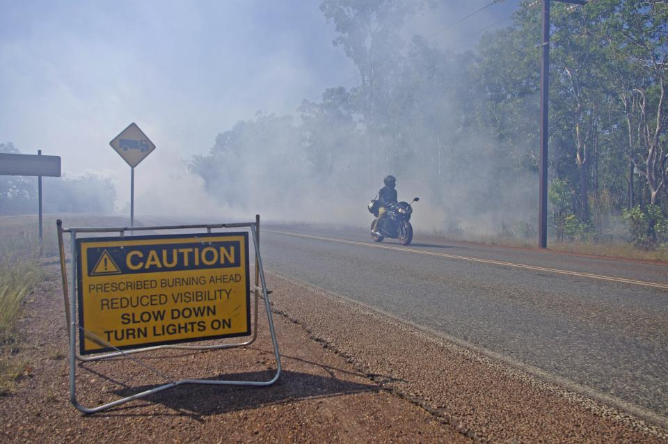 A hazard reduction burn outside Darwin in 2016. Photo: Bushfire and Natural Hazards CRC