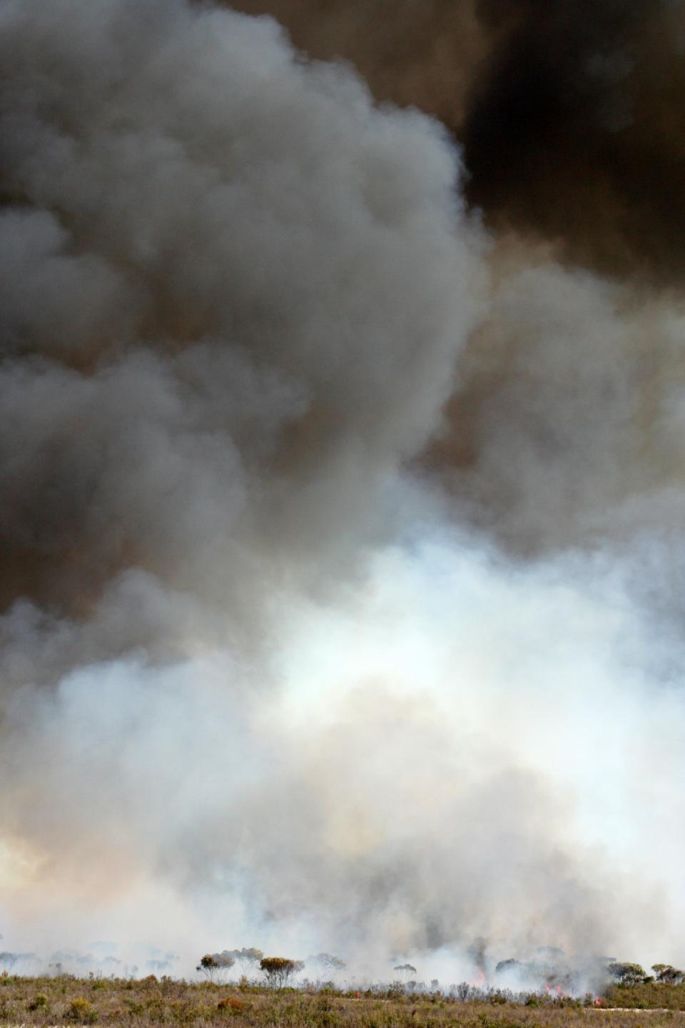 Smoke column at Ngarkat