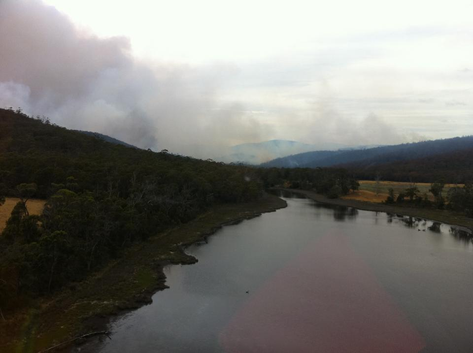 A bushfire in the Tasman Peninsula in 2013. Photo: Wayne Rigg, Country Fire Authority, Vic