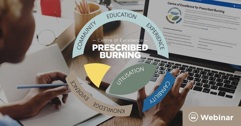Prescribed Burning Atlas webinar. Graphic: Centre of Excellence for Prescribed Burning.