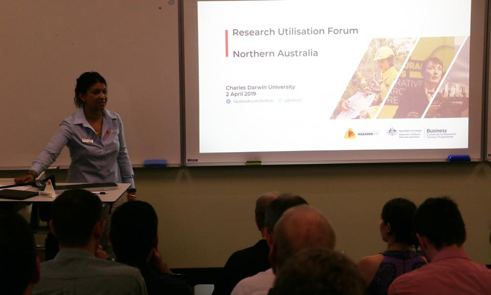 The Darwin Research Advisory Forum at Charles Darwin University, with Core Research Program Manager Desiree Beekharry.