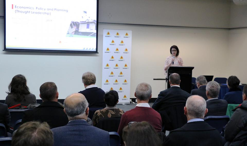 Farah Beaini, opening the thought Leadership RAF in Canberra, June 2019