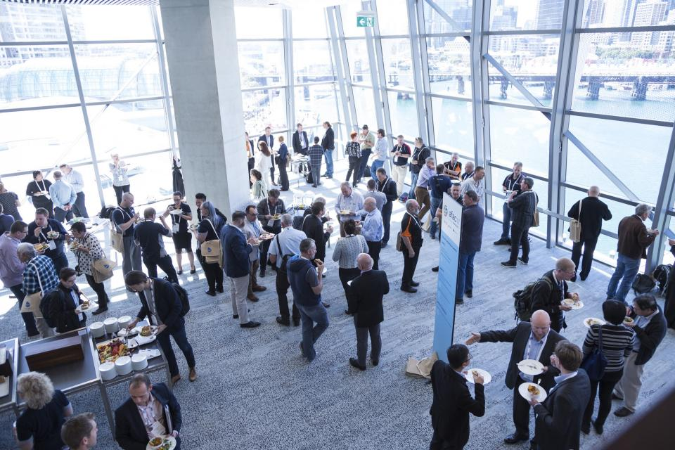 Networking lunch at the 2017 Research Forum