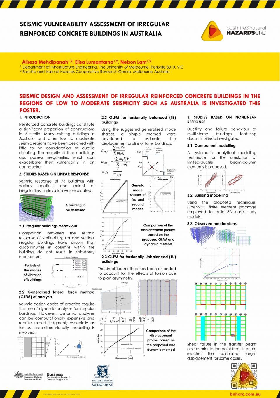 Seismic vulnerability assessment of irregular reinforced concrete buildings in Australia
