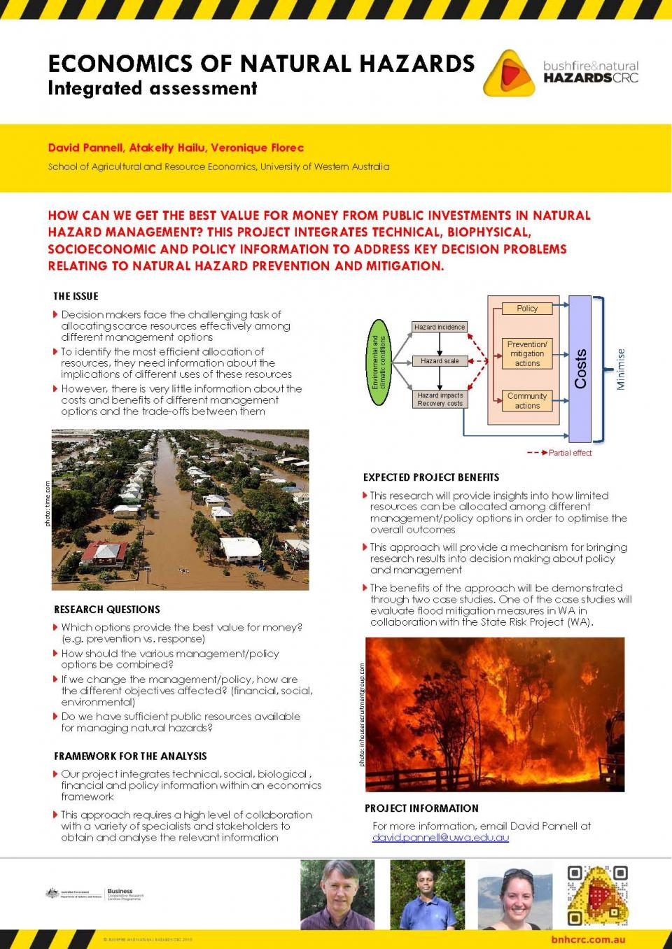 Economics of Natural Hazards: Integrated Assessment