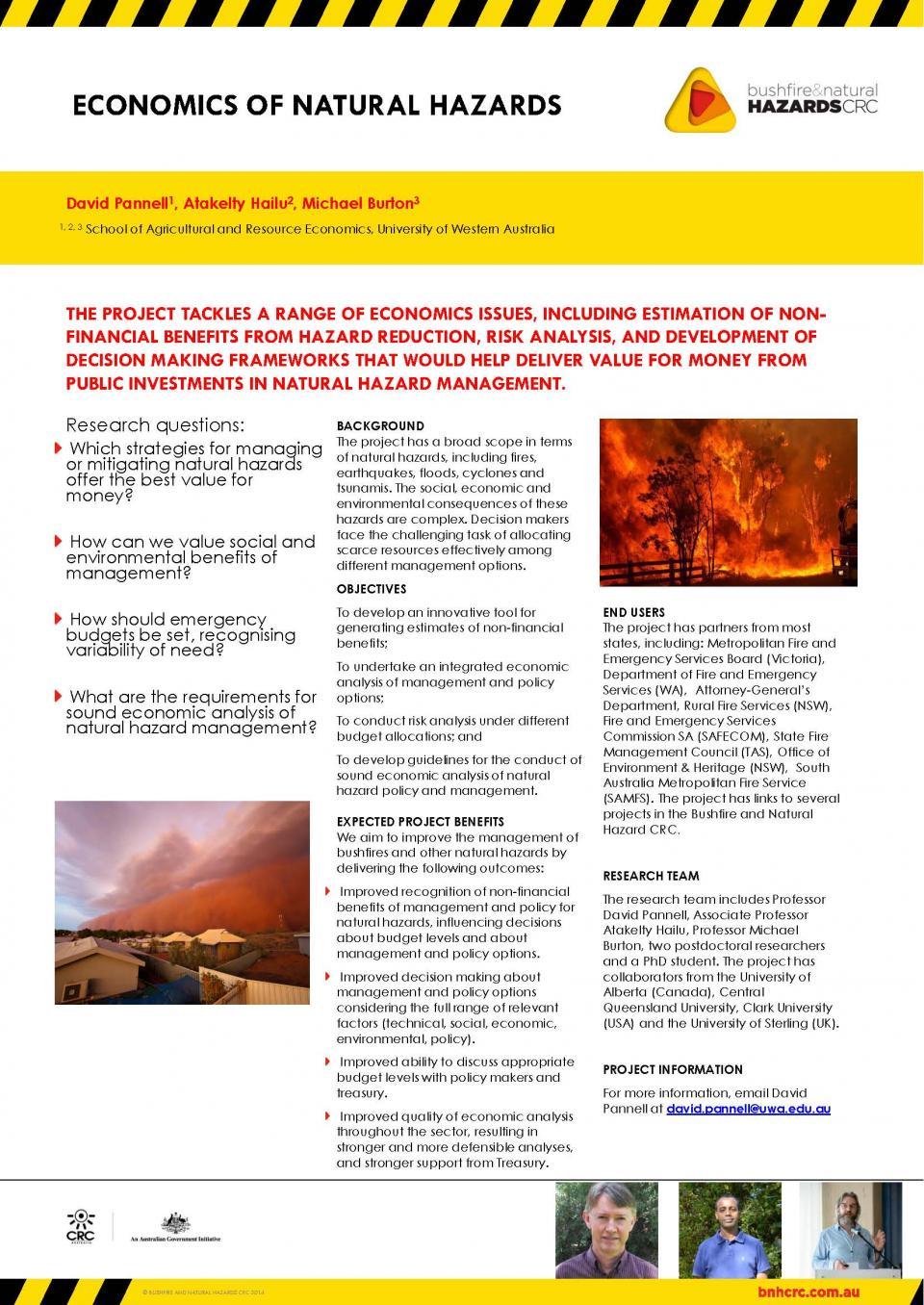 Economics of natural hazards