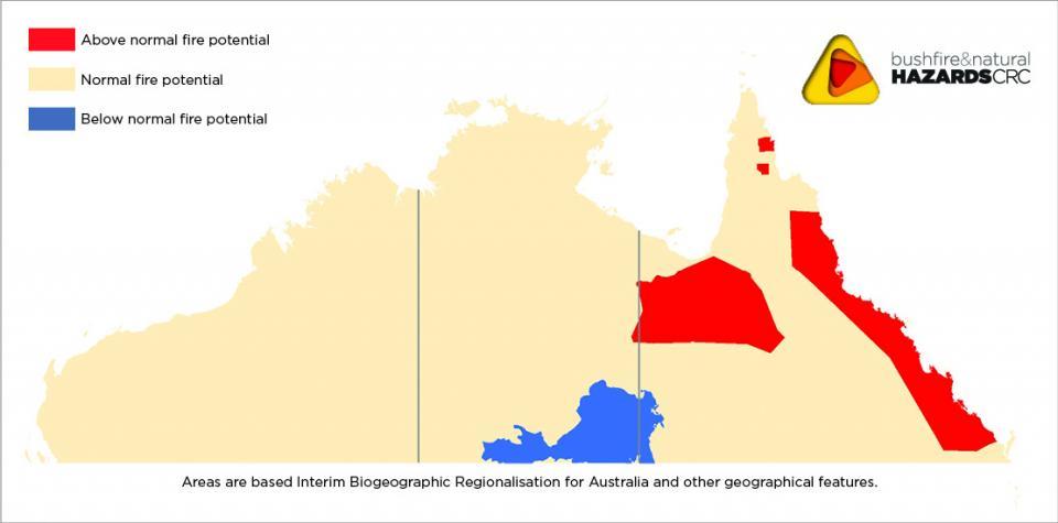 Bushfire outlook for Nth Australia 2016