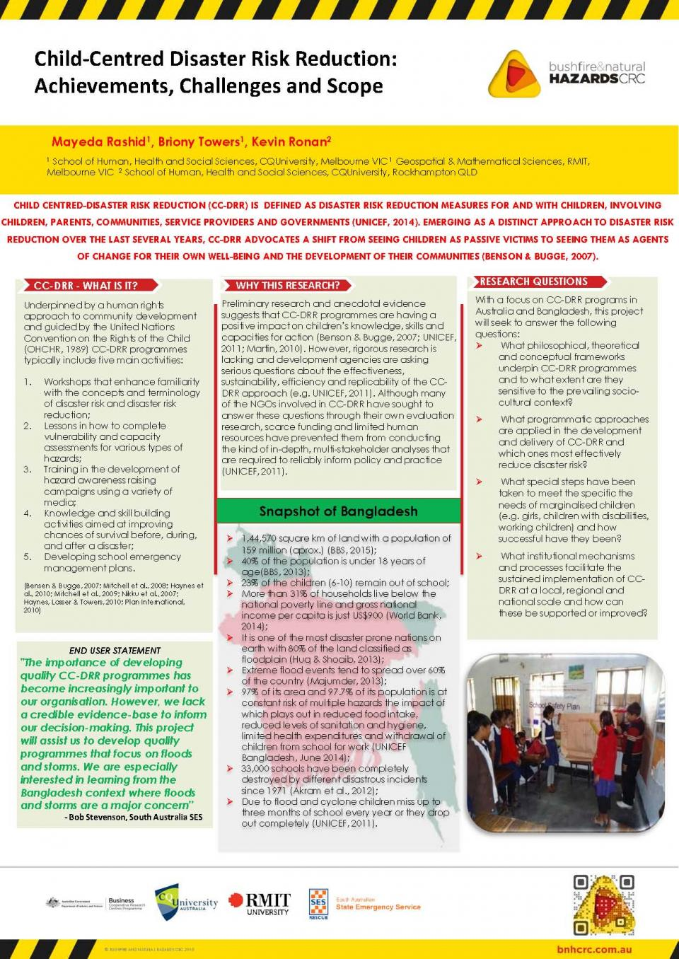 Child-Centred Disaster Risk Reduction: Achievements, Challenges, and Scope