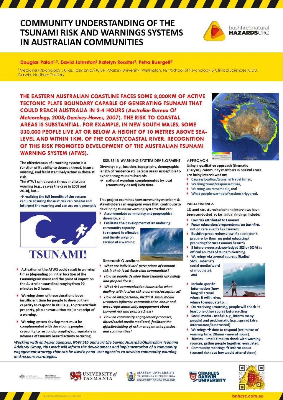 Community Understanding of the Tsunami Risk and Warning Systems in Australian Communities