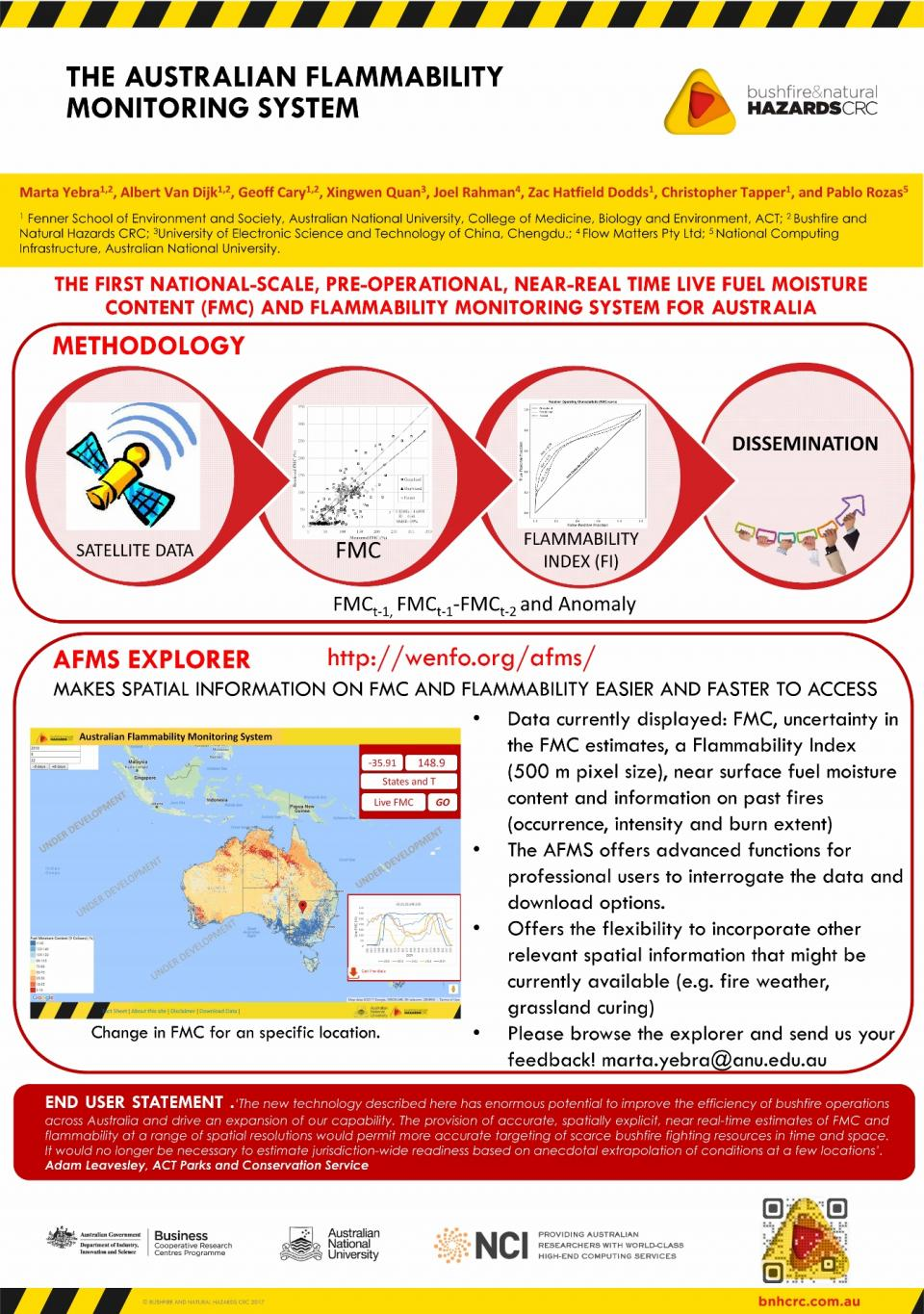 The Australian Flammability Monitoring System