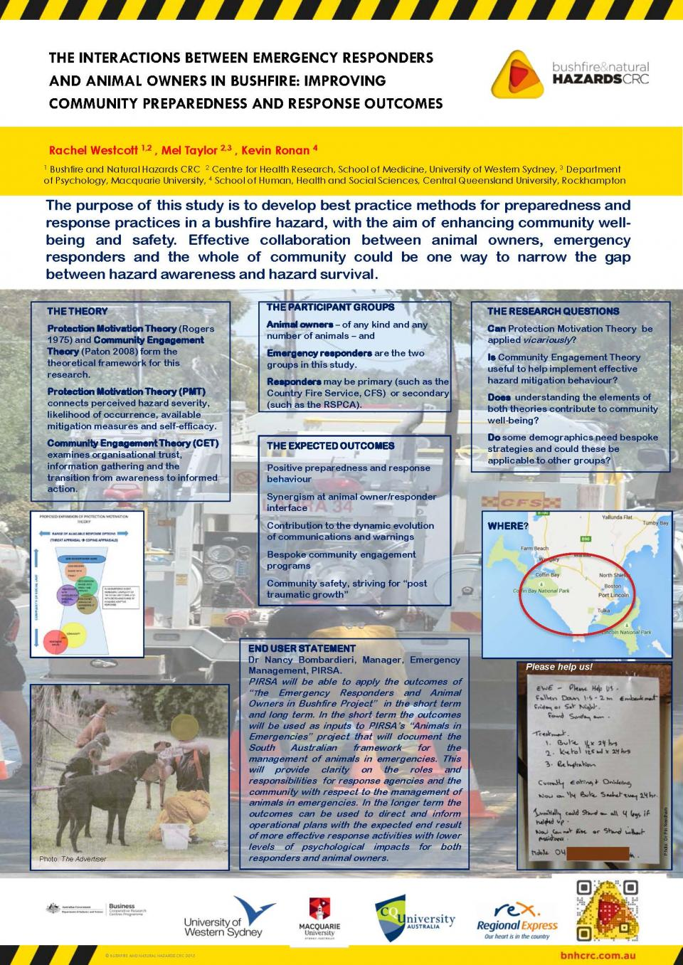 The Interactions Between Emergency Responders and Animal Owners in Bushfire: Improving Community Preparedness and Response Outcomes