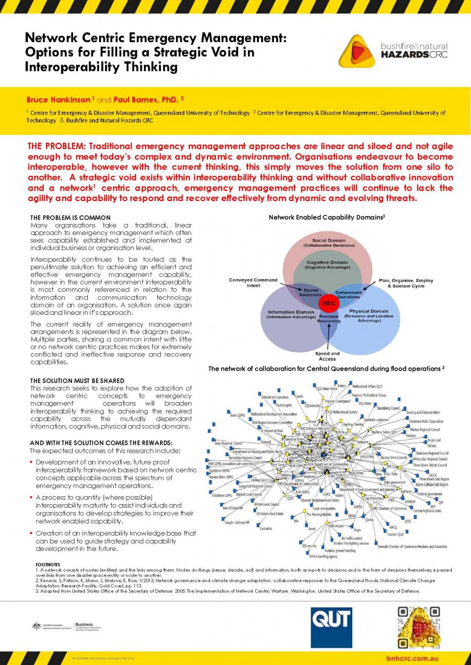 Network Centric Emergency Management: Options for Filling a Strategic Void in Interoperability Thinking