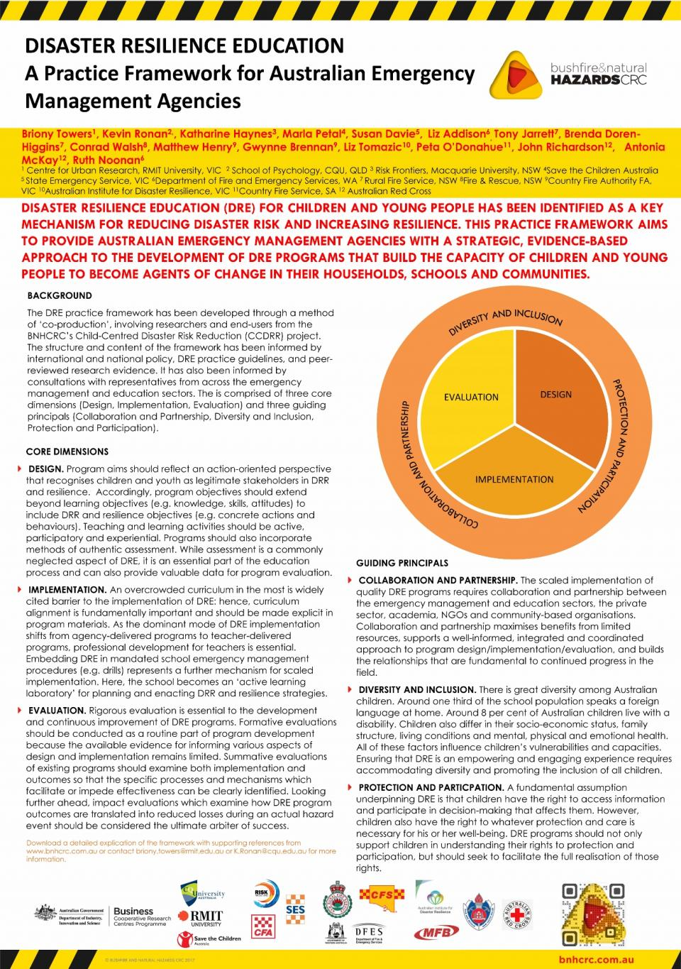 Disaster resilience education: a practice framework for Australian emergency management agencies