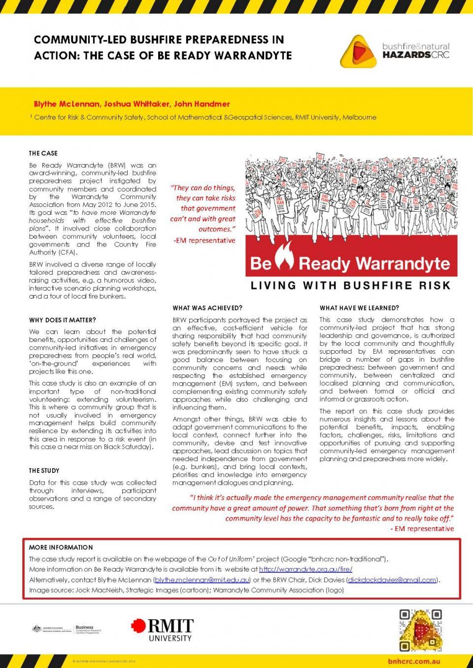Community-Led Bushfire Preparedness in Action: The Case of Be Ready Warrandyte