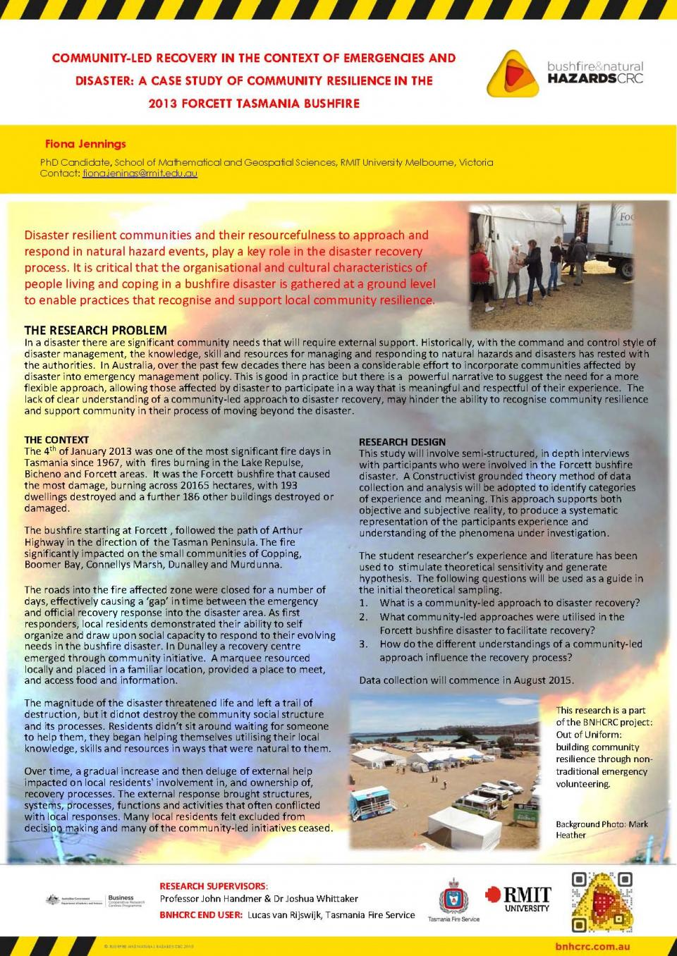 Community-led recovery in the context of emergencies and disaster