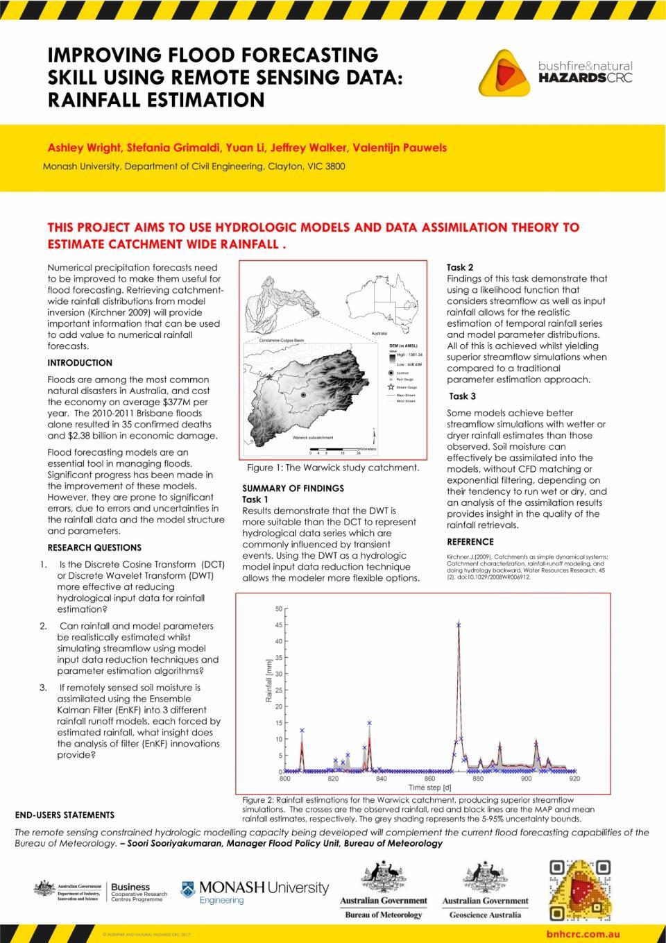 Improving flood forecasting skill using remote sensing data: rainfall estimation
