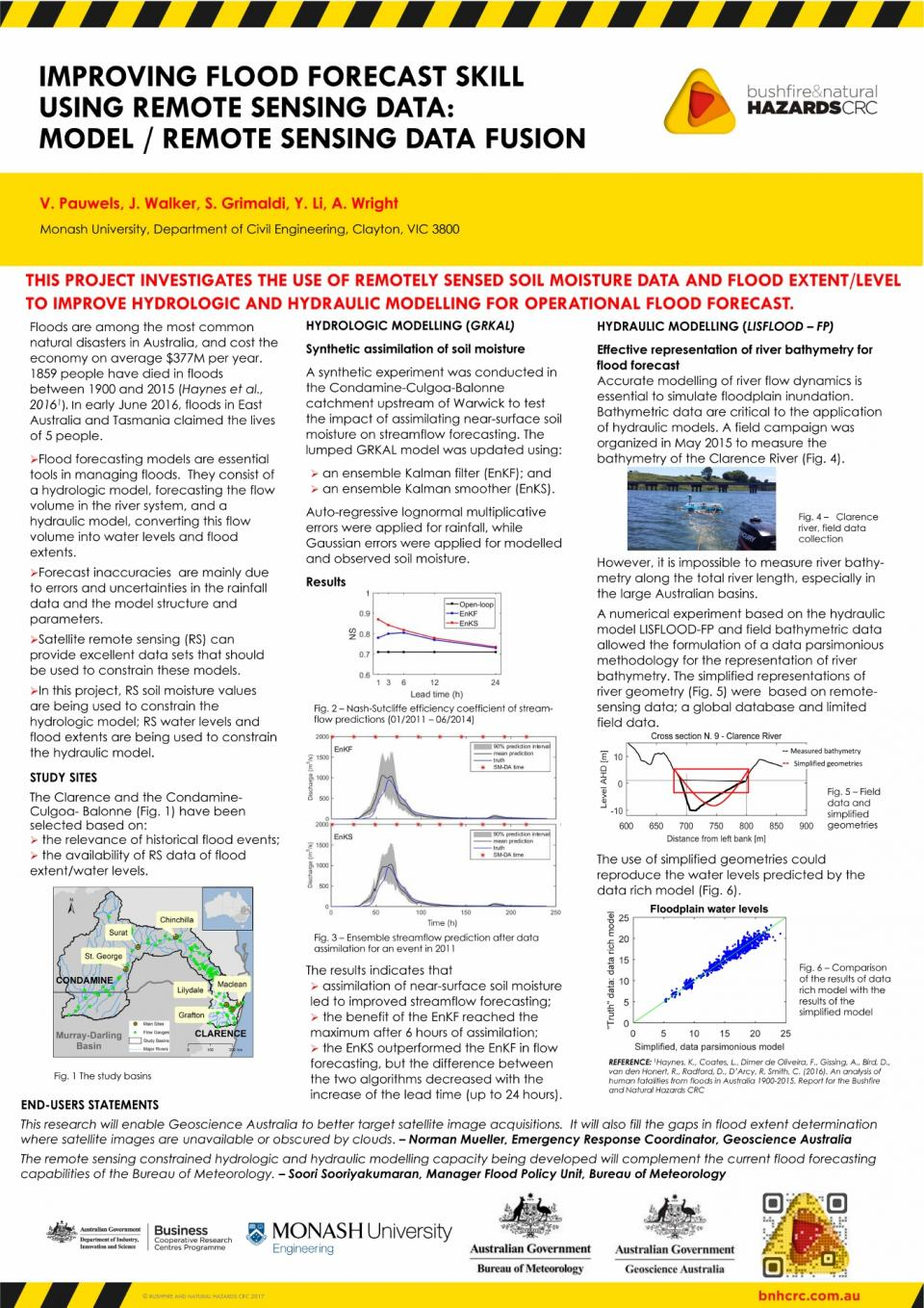 Improving flood forecast skill using remote sensing data: model/remote sensing data fusion