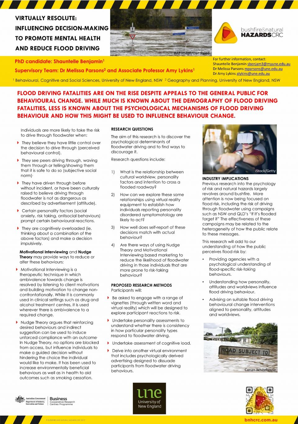 Virtually resolute: influencing decision-making to promote mental health and reduce flood driving